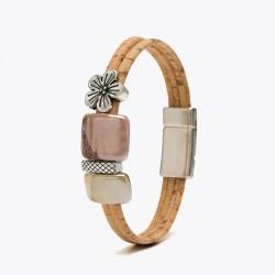 Kork Armband Blomma