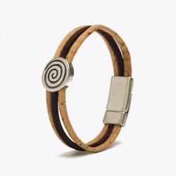 Kork Armband Spiral