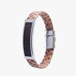 Kork Armband Platta Orm