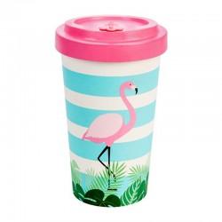To-Go Mugg Bambu Flamingo